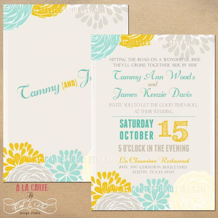 Items Similar To 25 Printed Wedding Invitation Cards
