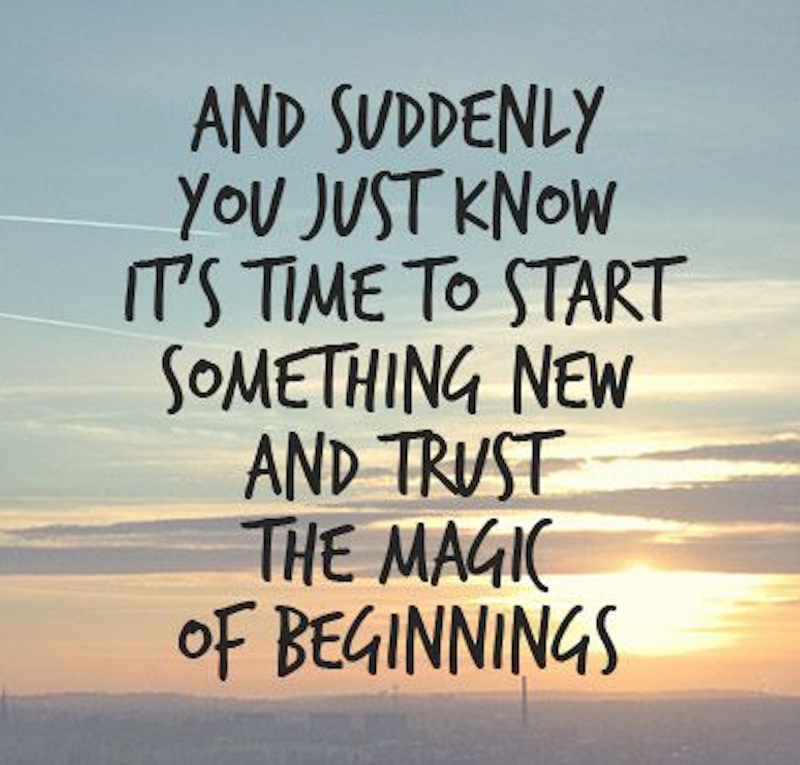 Starting over & turning a new chapter in your life? Here are ...