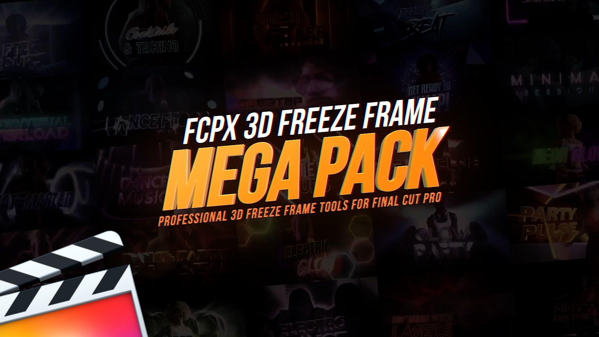 FCPX Freeze Frame Mega Pack Massive Collection of 3D