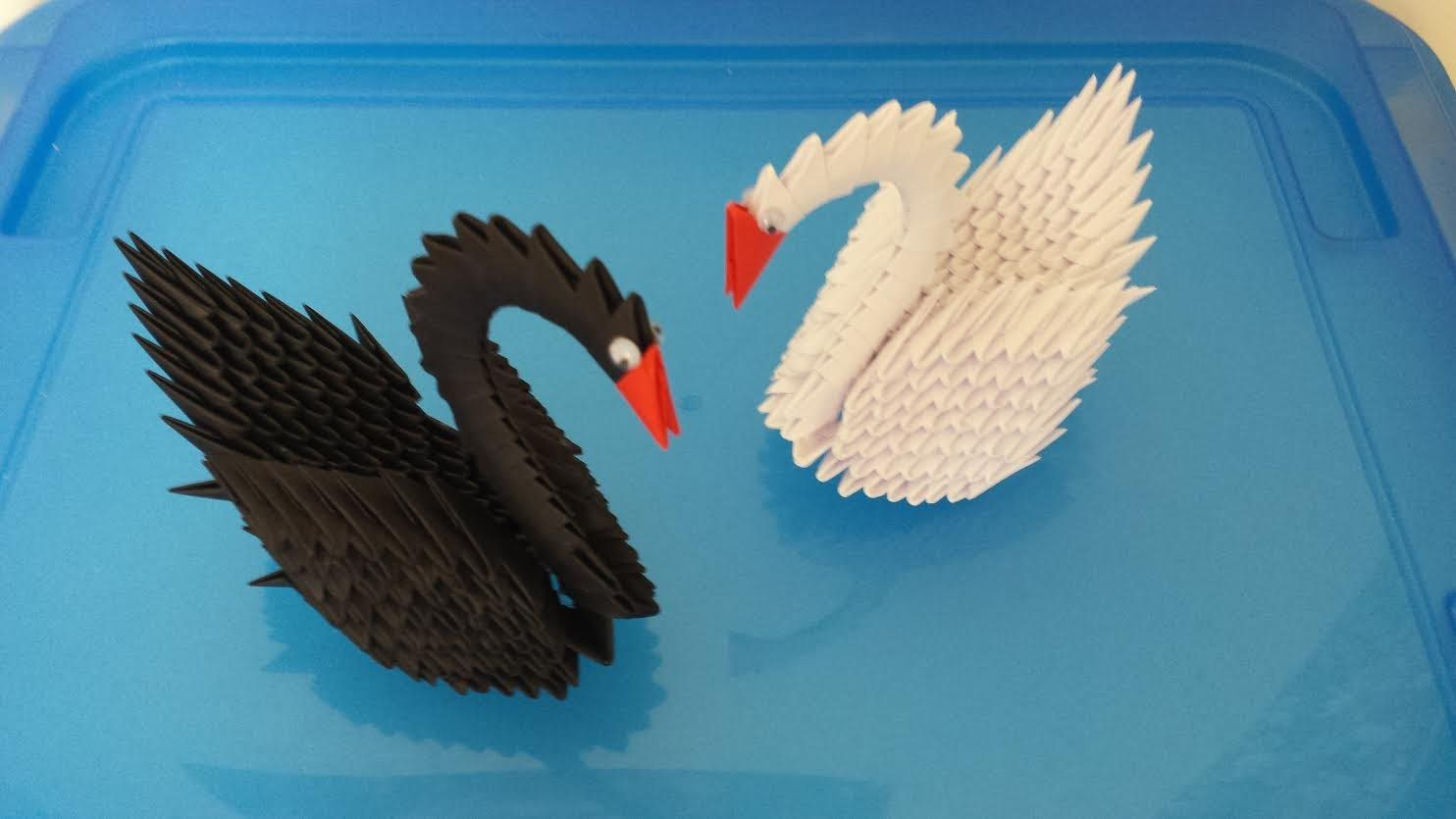 3D Bird Origami {With Video | Figuras de origami 3d, Manualidades ... | 835x1484