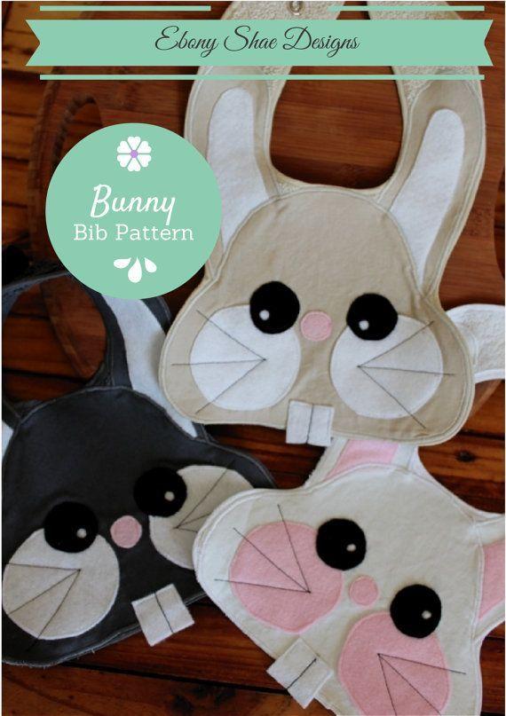 Bunny Baby Bib Sewing Pattern, Baby Bib PDF - e-pattern   Lätzchen ...