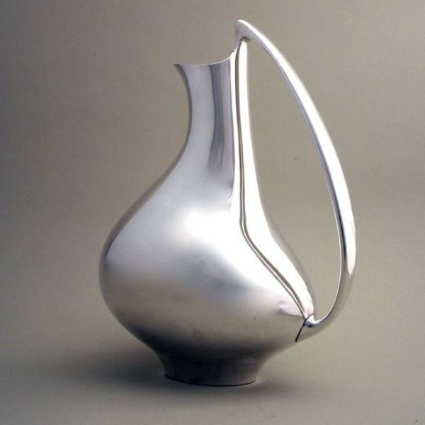 """Gallery 925 - Georg Jensen """"Pregnant Duck"""" Pitcher by Henning Koppel, No. 992."""