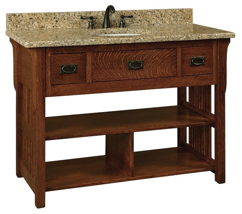 "Bathroom Vanities Lancaster Pa amish 49"" lancaster mission single bathroom vanity cabinet"