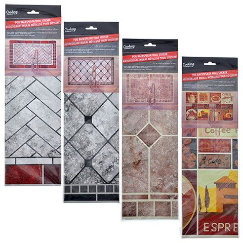 Cooking Concepts Foil Backsplash Wall Stickers Wall Stickers Backsplash Wall