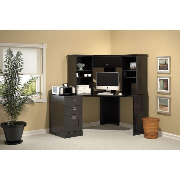 bush stockport black corner desk set office pinterest black rh pinterest co uk Corner Desk with Hutch for PC Small Corner Desk with Hutch