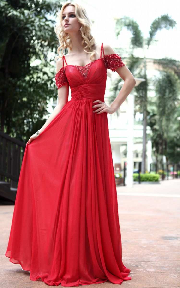Red long prom dresses uk off shoulder with sleeve