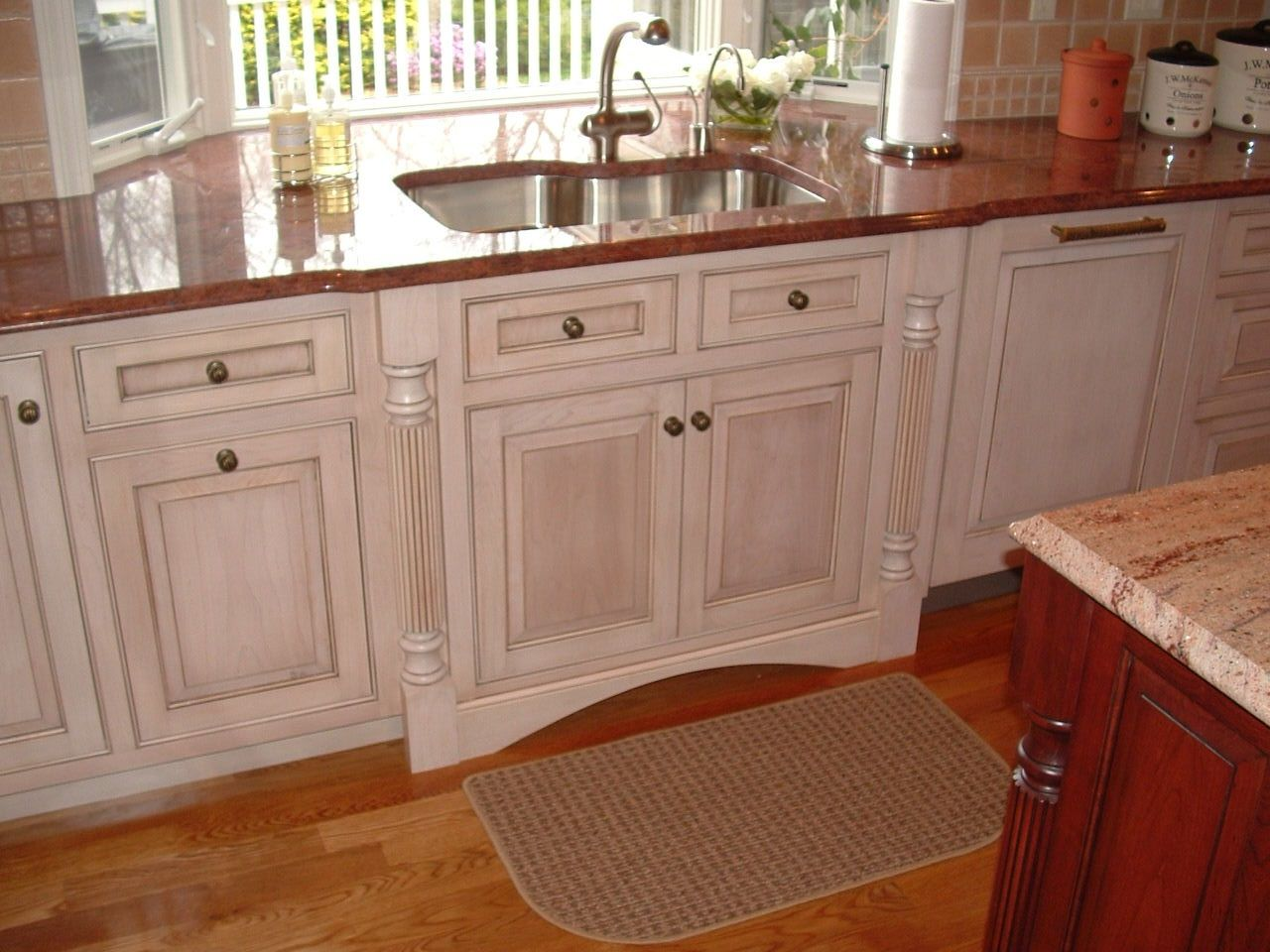 Kitchen windows; window to the countertop and extend the counter ...