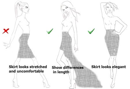How to choose fashion templates to design skirts I Draw Fashion - fashion designer templates