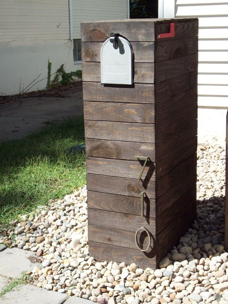 modern wooden mailbox modern mailbox Parcel dropbox Pinterest