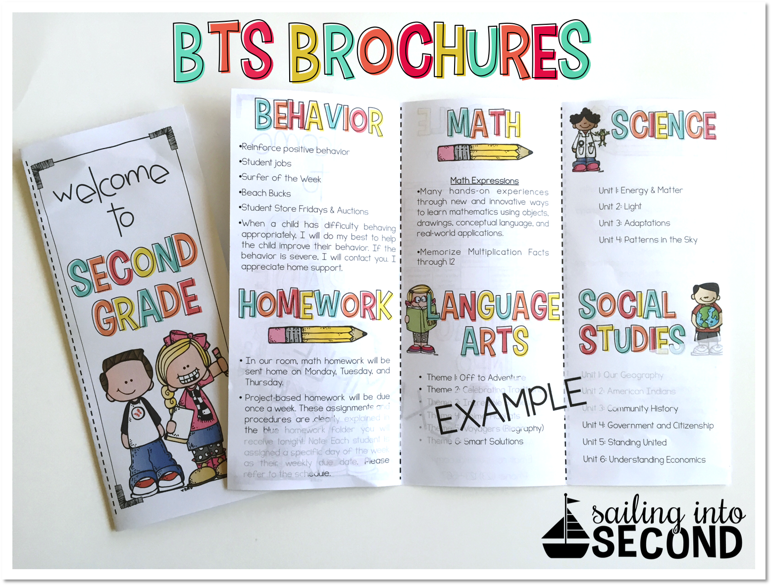 Back To School Meet The Teacher Open House Brochure EDITABLE