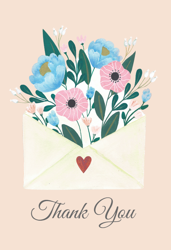 Heartwarmer Thank You Card Template Free Greetings Island Wedding Congratulations Card Free Greeting Cards Valentine Day Cards
