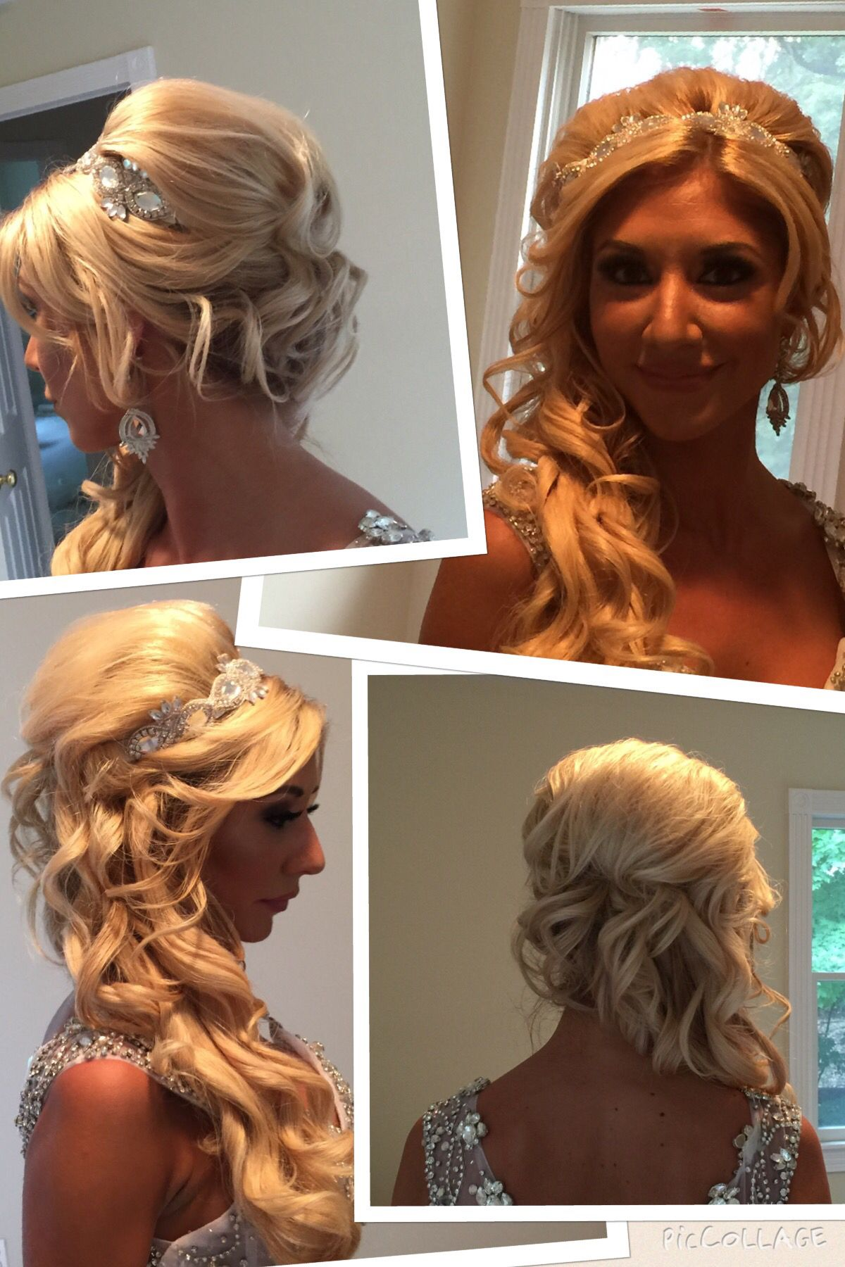 bridal updo i did. off to the side with curls, lots of