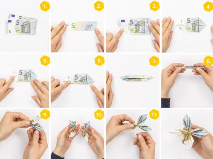 Geldscheine falten » 10 Anleitungen für Geldgeschenke | OTTO