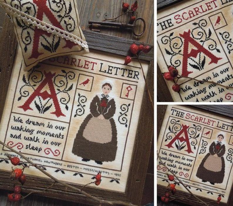 The Scarlet Letter PDF DIGITAL Cross Stitch Pattern in 2020