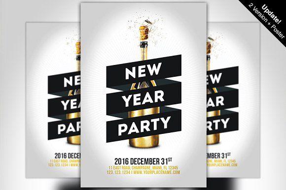 Minimal New Year Party Flyer | Pinterest | Party flyer, Flyer ...