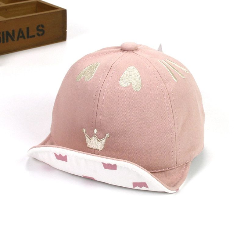 9e50821d06a ideacherry Cute Heart Crown Baby Girl Hats Cotton Baby Accessories Newborn Toddler  Baseball Cap Adjustable Summer