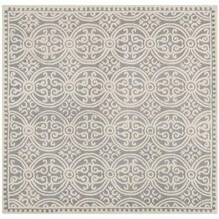 Safavieh Handmade Moroccan Cambridge Silver Wool Rug (8u0027 Square)