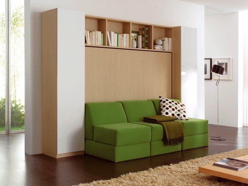 armoire lit gain de place. Black Bedroom Furniture Sets. Home Design Ideas