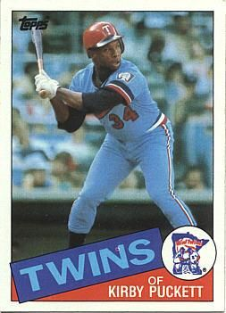 1985 Topps Kirby Puckett Baseball Rookie Card Baseball Cards Minnesota Twins Baseball Twins Baseball