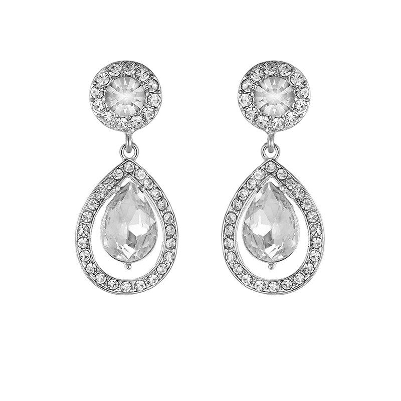 7ab904c1ec miallo newest crystal women girls long drop earrings for party ...