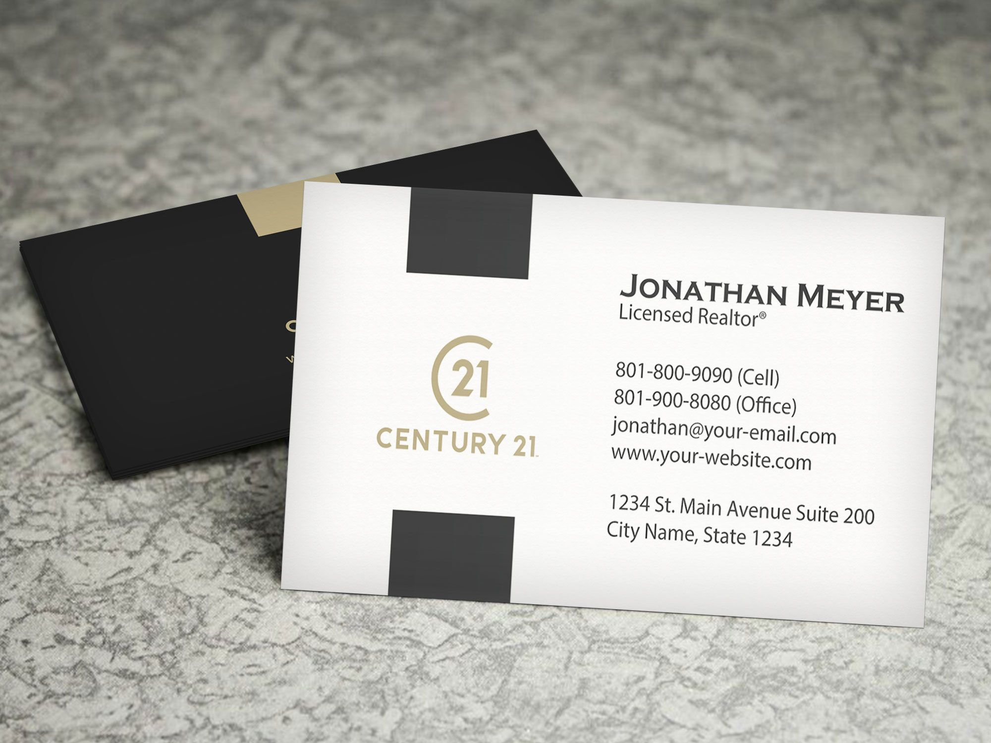 Century 21 Business Card Real Estate Business Card Design Etsy Realtor Business Cards Fun Business Card Design Business Card Design Real estate business card template