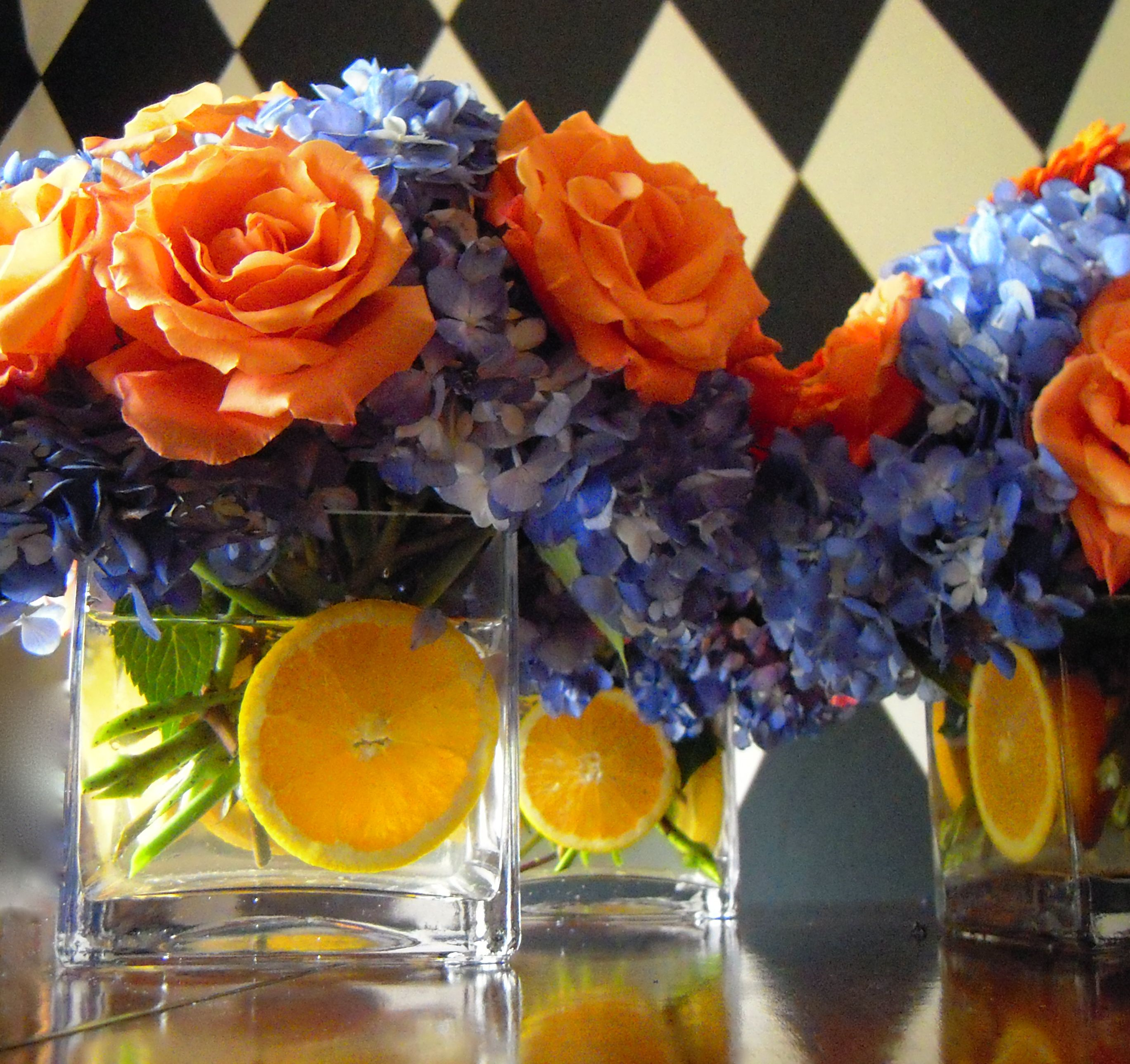 Syracuse university graduation party flower arrangements