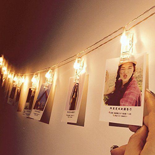 Guirlande Lumineuse avec Pince  16 LEDs 4 5 M Alimenté par