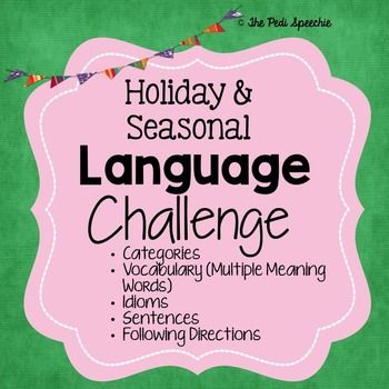 Speech and language therapy language activities speech therapy language challenge worksheets categories multiple meaning words idioms sentences following directions stopboris Choice Image