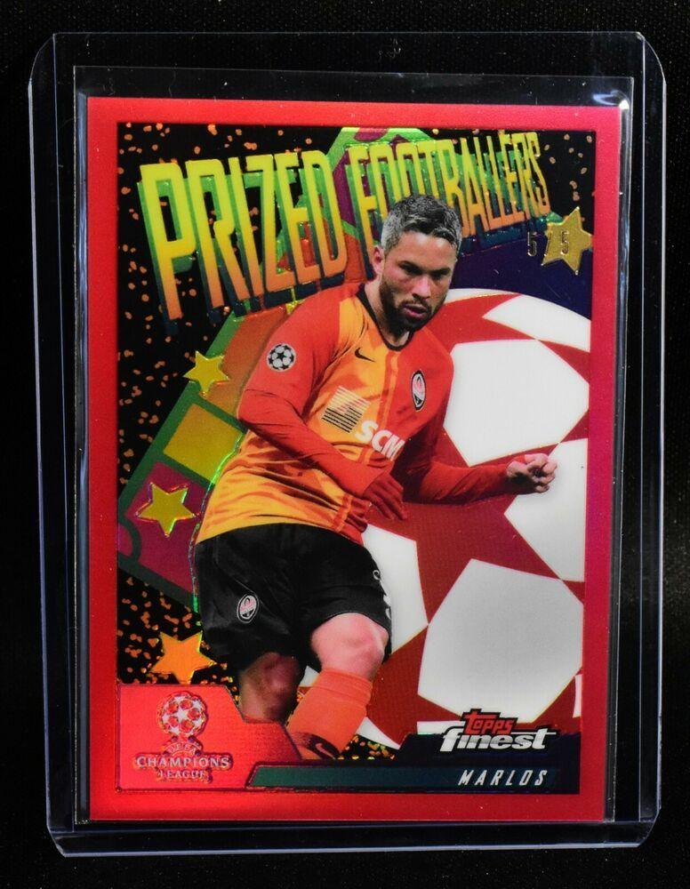 2019 20 Topps Finest Marlos Prized Footballers Red Refractor 5 5 Shakhtardonetsk In 2020 Soccer Cards Baseball Cards Cards