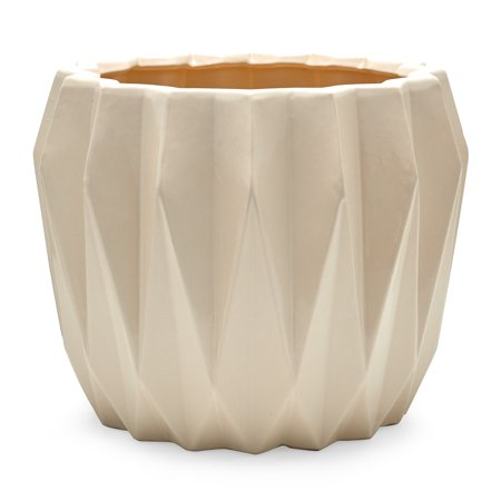 Home Earthenware White Planters Scandinavian