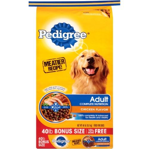 picture about Canidae Coupons Printable named Pedigree Thorough Vitamins and minerals Bird Style Dry Pet Foods, 40