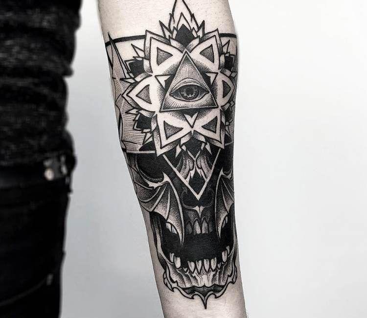 mandala skull tattoo by otheser tattoo tattoo ideen. Black Bedroom Furniture Sets. Home Design Ideas