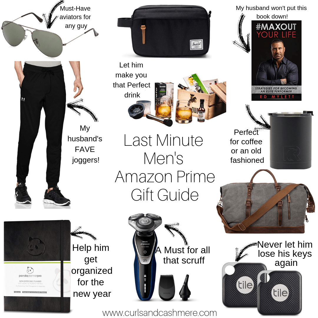 Last Minute Amazon Prime Men's Gift Guide Birthday ideas