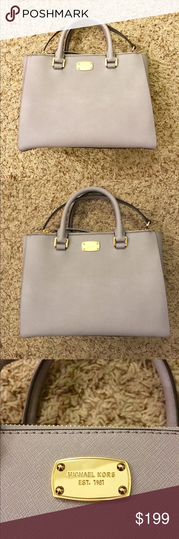 Michael Kors Lilac Satchel Used once. Its in perfect condition Michael Kors Bags Satchels