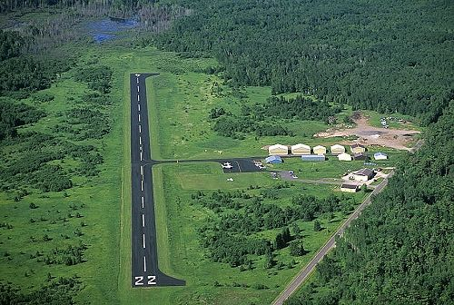 Aerial photo of Madeline Island Airport, Bayfield County, Wisconsin, WI  United States