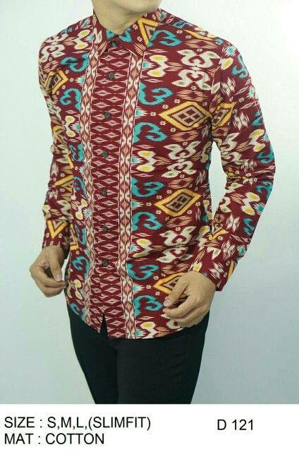 Batik Slim Fit Pria Lengan Panjang   Harga   Rp. 178.000 (Sudah Termasuk 33372a90e4