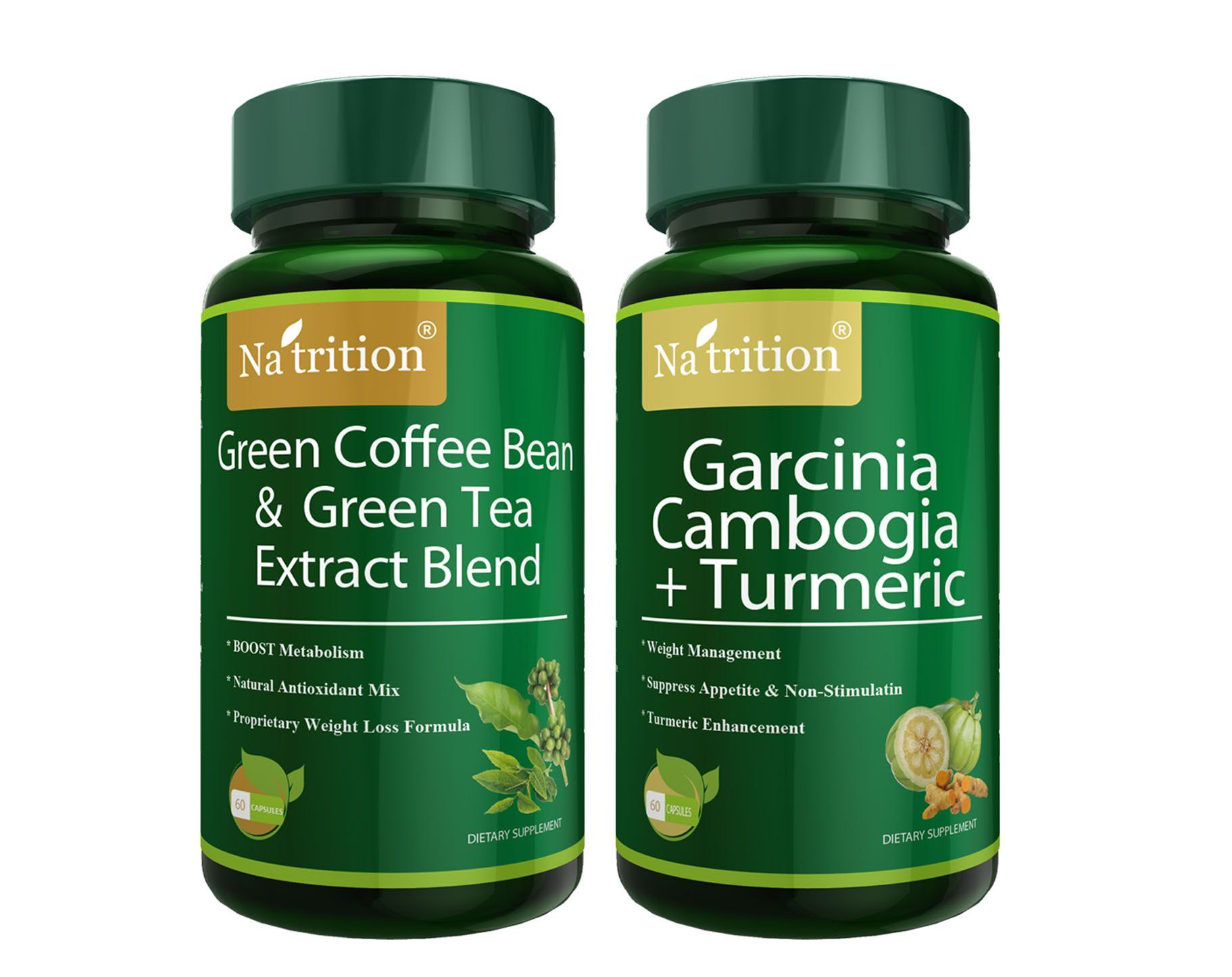Natrition Green Coffee Bean Plus Green Tea Extract Blend And