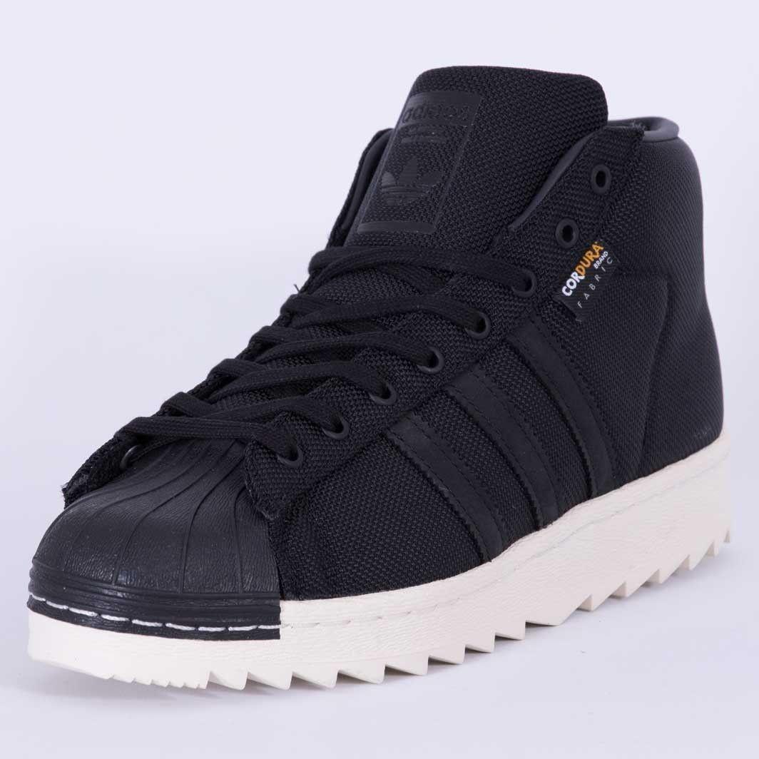 adidas originals pro model 80's trainers in black s80533
