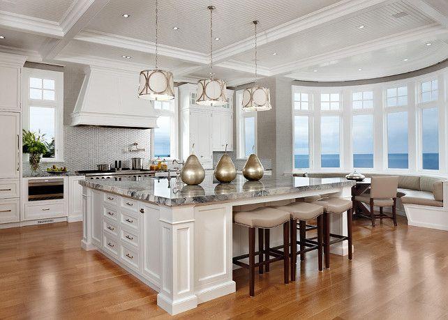 White Kitchen Design ideas. Custom-designed white kitchen with Sub ...