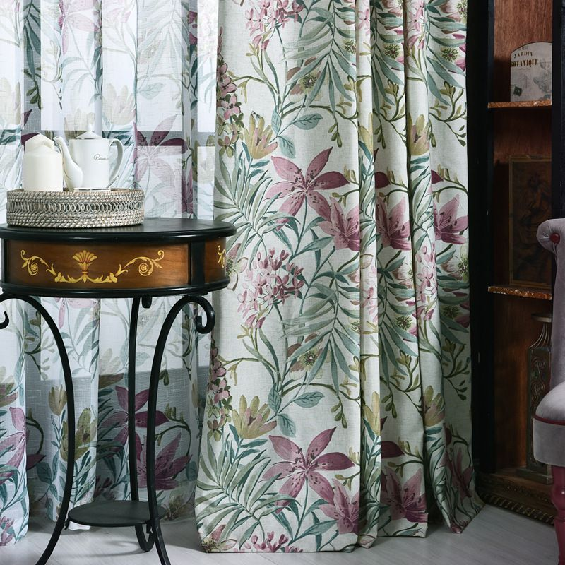 Beautiful American Waverly Fl Botanical Window Curtains And D