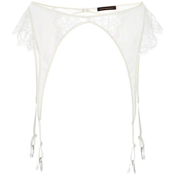 Kiki de Montparnasse Coquette Garter Belt ($150) ❤ liked on Polyvore featuring intimates, kiki de montparnasse, garter belt and suspender belt