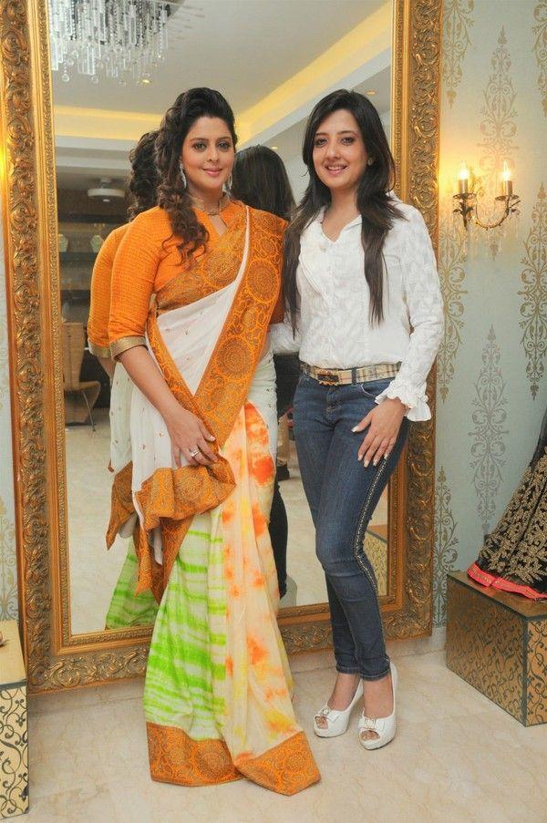 Beautiful Indian Actress Nagma In Yellow Saree | Indian ...