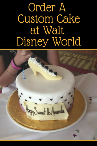 Remarkable Order A Custom Cake At Walt Disney World Custom Cakes Disney Personalised Birthday Cards Veneteletsinfo