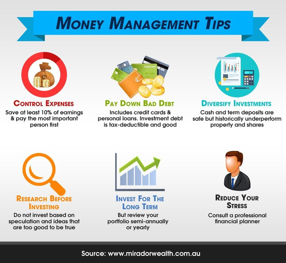 6 money management tips for startup success infographic