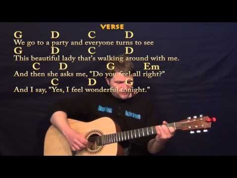 Wonderful Tonight Eric Clapton Easy Fingerstyle Guitar Cover