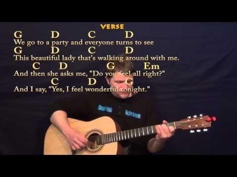 Wonderful Tonight (Eric Clapton) Easy Fingerstyle Guitar ...