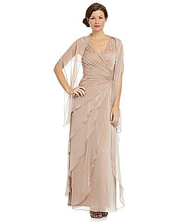 Ignite Evenings Woman Ruched AsymmetricTiered Gown #Dillards - for ...