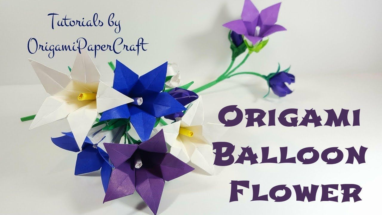 How To Make An Origami Balloon Flower Tutorial By