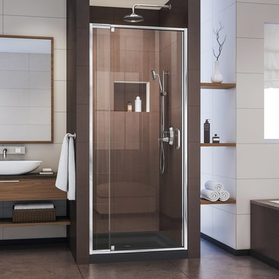 Dreamline Flex 32 36 In W X 72 In H Semi Frameless Pivot Shower
