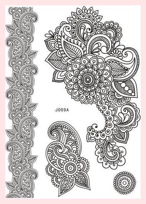 Henna Tattoo Schwarz Allergie: Stück Körperbemalung Weiß Schwarz Henna Tattoo Gefälschte